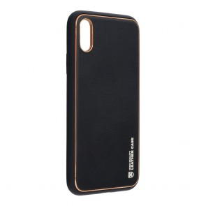 Forcell LEATHER Case for IPHONE X black