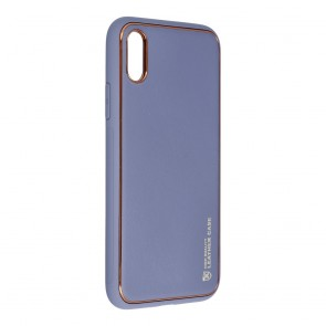 Forcell LEATHER Case for IPHONE X blue