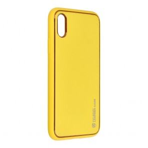 Forcell LEATHER Case for IPHONE X yellow