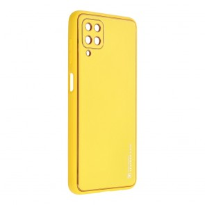 Forcell LEATHER Case for SAMSUNG Galaxy A03S yellow