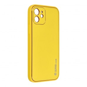 Forcell LEATHER Case for IPHONE 12 yellow