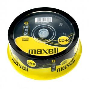 MAXELL CD-R, 700MB/80min, 52x speed, Cake 25