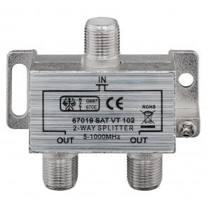 GOOBAY CATV splitter 67019, 2-way, 5 MHz - 1000 MHz, 3.7 dB