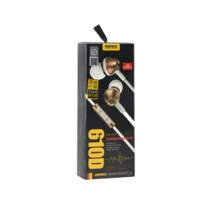 REMAX Stainless Steel Earphone Deep Bass gold