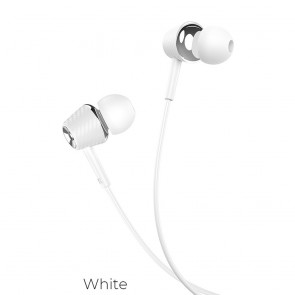 HOCO eaphones Graceful universal with mic M70 white