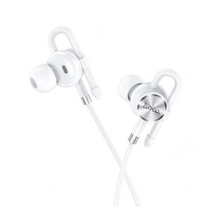 HOCO earphones Jack 3,5mm with microphone Perfection M84 white