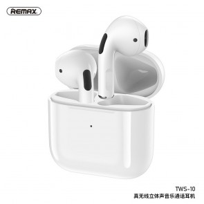 REMAX bluetooth earphones TWS-10 with power bank white