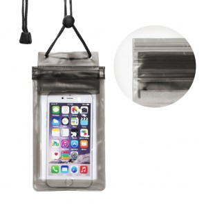 Waterproof bag for mobile phone with Zipper closing - black