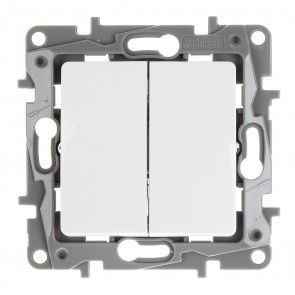 LEGRAND διακόπτης αλέ-ρετούρ 764502, διπλός, λευκός