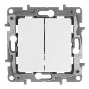 LEGRAND διακόπτης κομμυτατέρ 764505, διπλός, λευκός