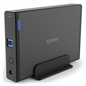 "ORICO εξωτερική θήκη για 3.5"" HDD 7688U3, USB3.0, 5Gbps, έως 12TB, μαύρη"