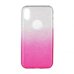 Forcell SHINING Case for SAMSUNG Galaxy A21S clear/pink
