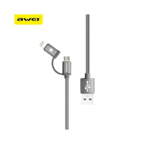 Cable AWEI CL930 2in1 gray