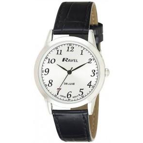 Ravel Deluxe timeless ρολόι με μαύρο δερμάτινο λουράκι (38 mm) RD102G