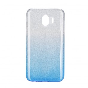 Forcell SHINING Case Samsung Galaxy J4 2018 transparent/blue