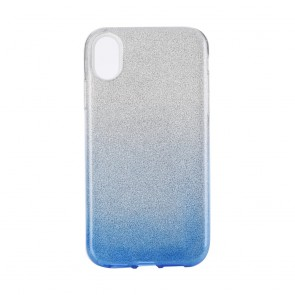"""Forcell SHINING Case for IPHONE XR ( 6,1"""" ) clear/blue"""