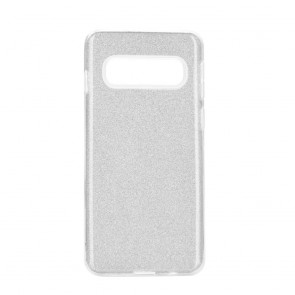 Forcell SHINING Case for SAMSUNG Galaxy S10 silver