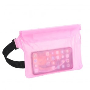 Waterproof bag for mobile phone with belt clip - rose