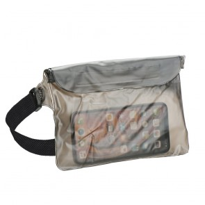 Waterproof bag for mobile phone with Belt clip - black