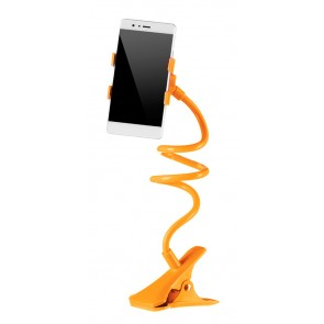 Universal Βάση σιλικόνης για Smartphone, clip holder, flexible, Orange