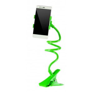 Universal Βάση σιλικόνης για Smartphone, clip holder, flexible, Green