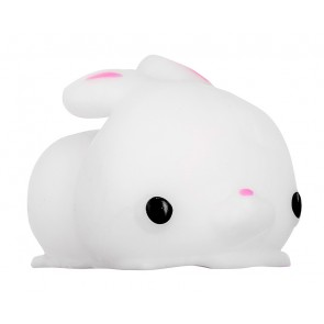 Squishy Stress Relief Toy, Silicone, Rabbit, White