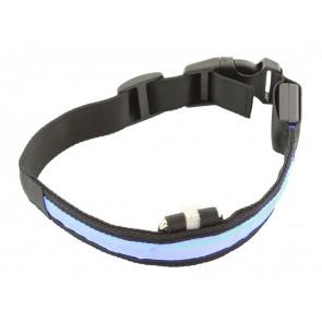 Περιλαίμιο σκύλου AG232A με φωτισμό LED, 34-44cm, μαυρο/μπλε