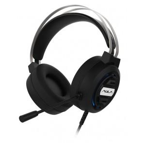 AULA gaming headset Mountain S603, RGB, USB, 50mm, μαύρο