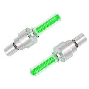 Καπάκι βαλβίδας ποδηλάτου BIKE-0030, LED, 6.5cm, 2τμχ, πράσινο