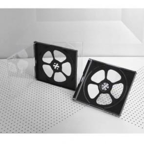 Πλαστική θήκη κανονική για 4 CD/DVD σε διάφανο/μαύρο χρώμα