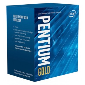 INTEL CPU Pentium Gold G6400, Dual Core, 4GHz, 4MB Cache, LGA1200