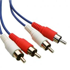 POWERTECH Καλώδιο 2x RCA Male σε 2x RCA Male (red, white), 5m