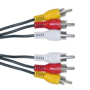 POWERTECH Καλώδιο 3x RCA Male σε 3x RCA Male CAB-R004, 1.5m