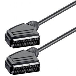 POWERTECH Καλώδιο Scart 21pin σε Scart 21pin CAB-S001, 1.4m, μαύρο