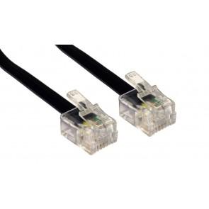POWERTECH Καλώδιο Τηλεφώνου RJ11 6P4C, 5m, Black
