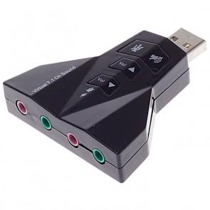 POWERTECH USB κάρτα ήχου 7.1CH, με έξοδο μικρόφωνου και ακουστικού