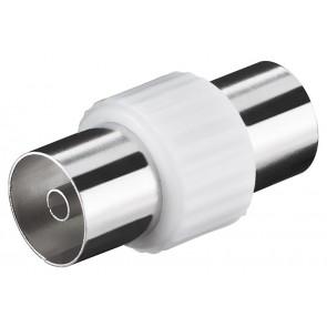 POWERTECH αντάπτορας καλωδίου κεραίας CAB-V030, θηλυκό, λευκός, 5τμχ