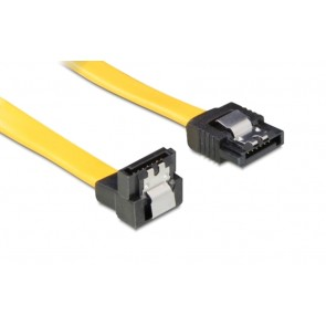 POWERTECH Καλώδιο SATA III 7-pin σε 7-pin 90°, Metal Clip, 0.5m