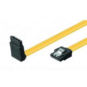 POWERTECH Καλώδιο SATA III L 7-pin σε 7-pin 90°, Metal Clip, 0.5m