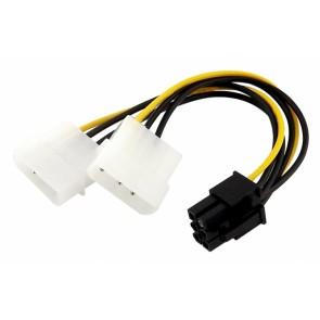 POWERTECH Καλώδιο PCI-E 6pin σε 2x molex IDE 4pin CAB-W031, 10cm