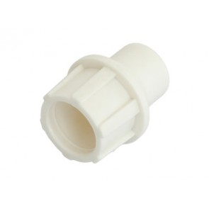 "TELECOM ""Cut and Push"" plastic coaxial connector, patented, White 5 ΤΕΜ."