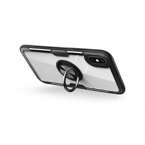 Forcell CARBON CLEAR RING Case for SAMSUNG Galaxy NOTE 20 PRO balck