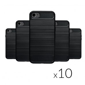Forcell CARBON Case (SET 10in1) - MULTIPACK for SAMSUNG A10 black