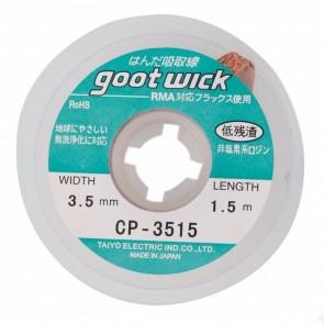 GOOT WICK Desoldering Braid CP-3515, made in Japan