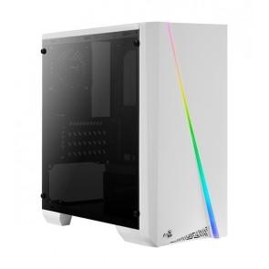 AEROCOOL PC case mini tower CYLON-MINI, 186x381.5x373mm, 1x fan, λευκό
