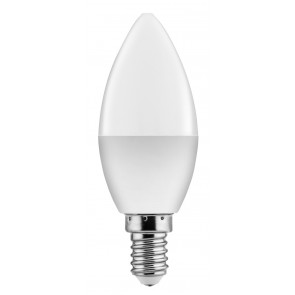 POWERTECH LED Λάμπα Candle E14-004 5W, 3000K, E14, Samsung LED, IC