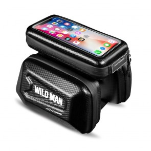 """Bicycle holder / front beam bag with touch screen with zipper WILDMAN E6S 1,2L 4 """"- 7"""""""