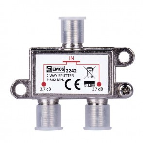 EMOS Splitter EU2242, 2-Way, 5-862mHz, 3.7dB