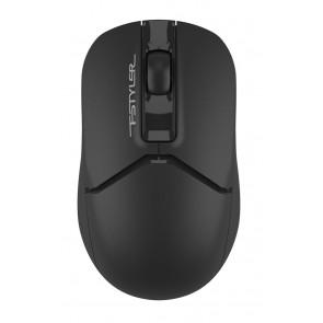 A4TECH ασύρματο ποντίκι Fstyler FG12, 1200DPI, 3 πλήκτρα, μαύρο