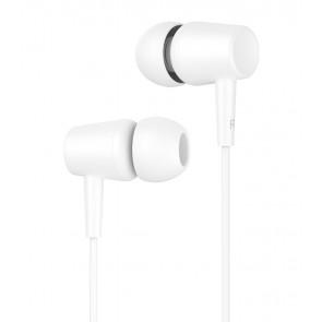 CELEBRAT earphones G13 με μικρόφωνο, 10mm, 1.2m, λευκό